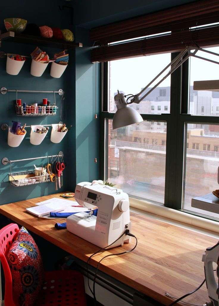 Everyone needs an office for their DIY idea, or that one project that you want to finish. In this craft room see how something small can be mighty.