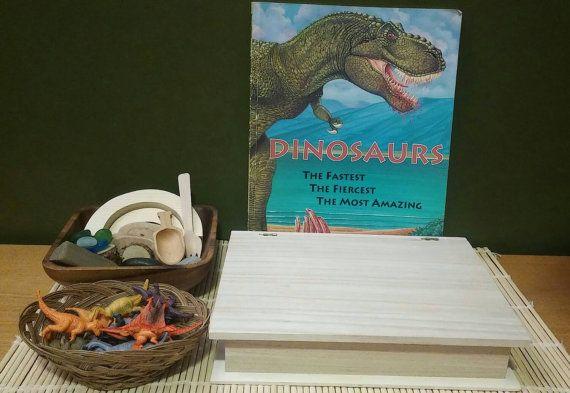 Dinosaur Sensory Play by MontessoriReStore on Etsy