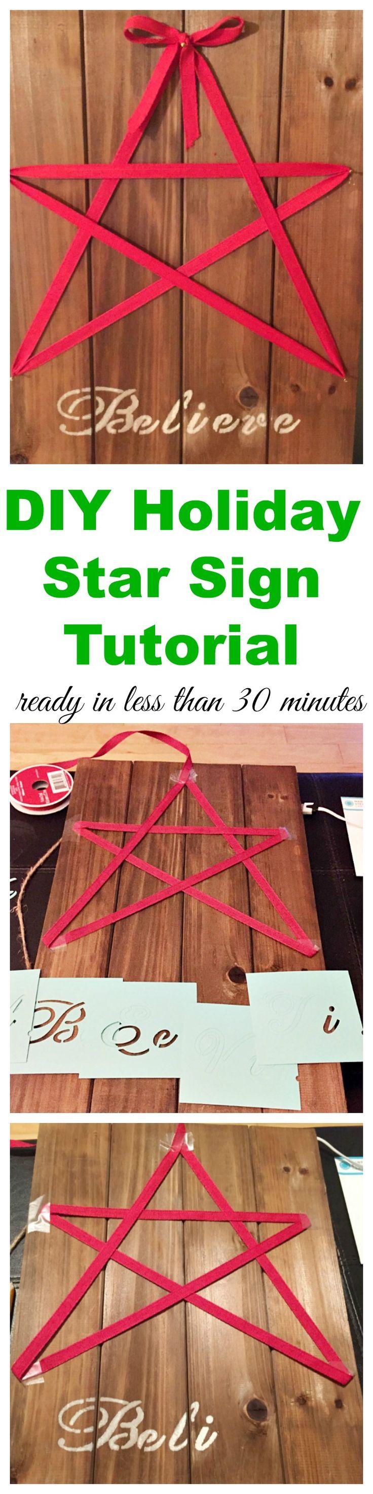 Easy Diy Holiday Star Sign Tutorial Christmas Decor And