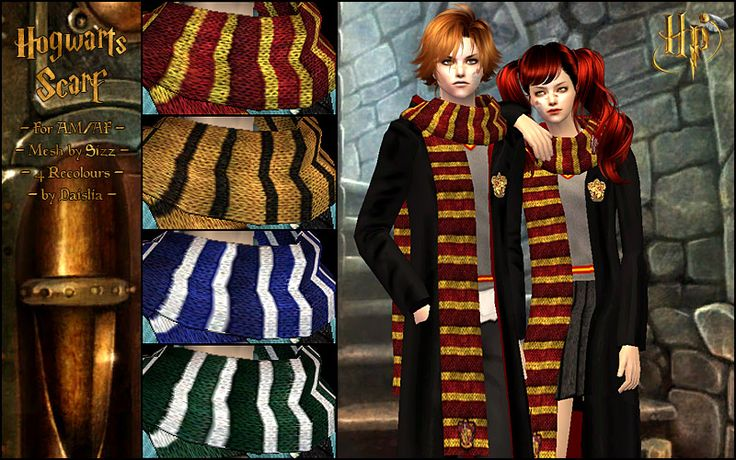 Hogwarts Scarf Ver.5 | Sims 2 Themes: Harry Potter ...
