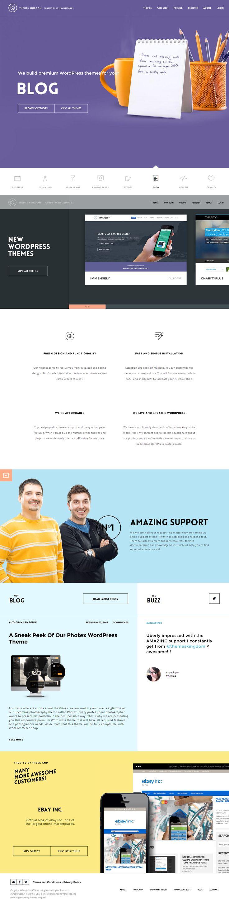 Themes Kingdom - Premium WordPress Themes, 25 January 2014. http://www.awwwards.com/web-design-awards/themes-kingdom-premium-wordpress-themes #Scroll #OnePage #Colorful #HTML5 #UI #Inspiration