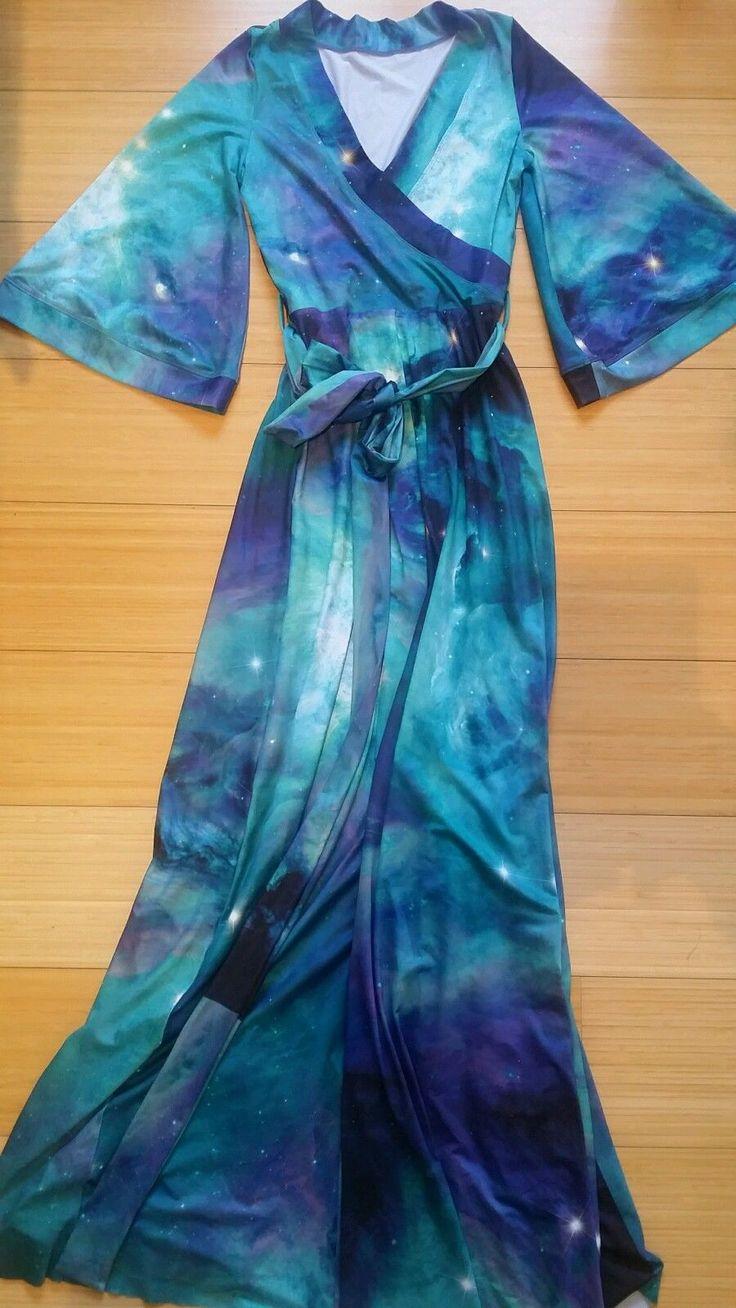 Teal Galaxy Kimono Maxi Unreleased Sample I saw on eBay