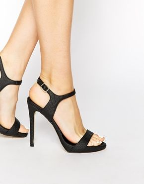 6e3c86b49 New Look Quentin Black Barely There Heeled Sandals | Shoes | Shoe boots,  New look shoes, Shoes heels