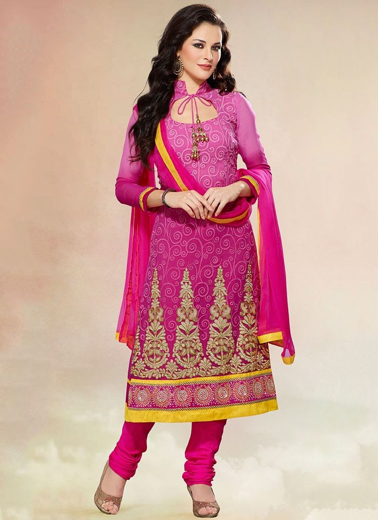Latest Salwar Kameez Neck Designs Catalogue with Border 2015