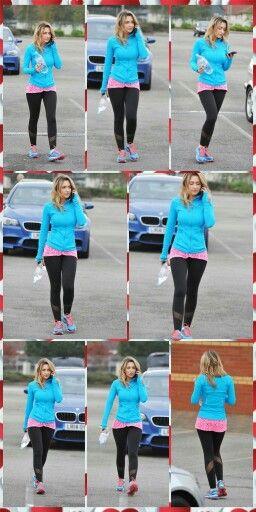 Gemma Merna In Leggings Collage