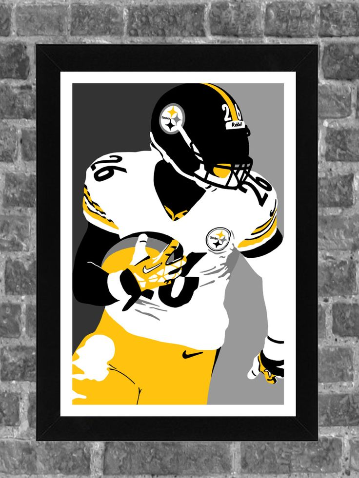 Pittsburgh Steelers Le'Veon Bell Portrait Sports Print Art 11x17 by FanFourLife on Etsy https://www.etsy.com/listing/222195910/pittsburgh-steelers-leveon-bell-portrait
