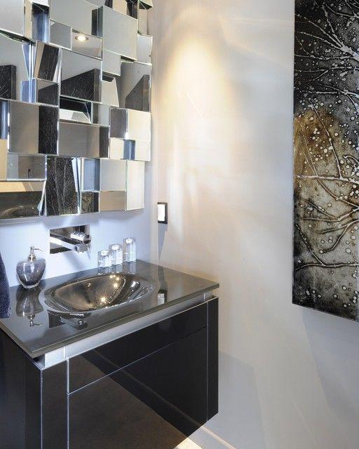 Neos Powder Room Vanity Contemporary Ottawa Luxurious Living Studio