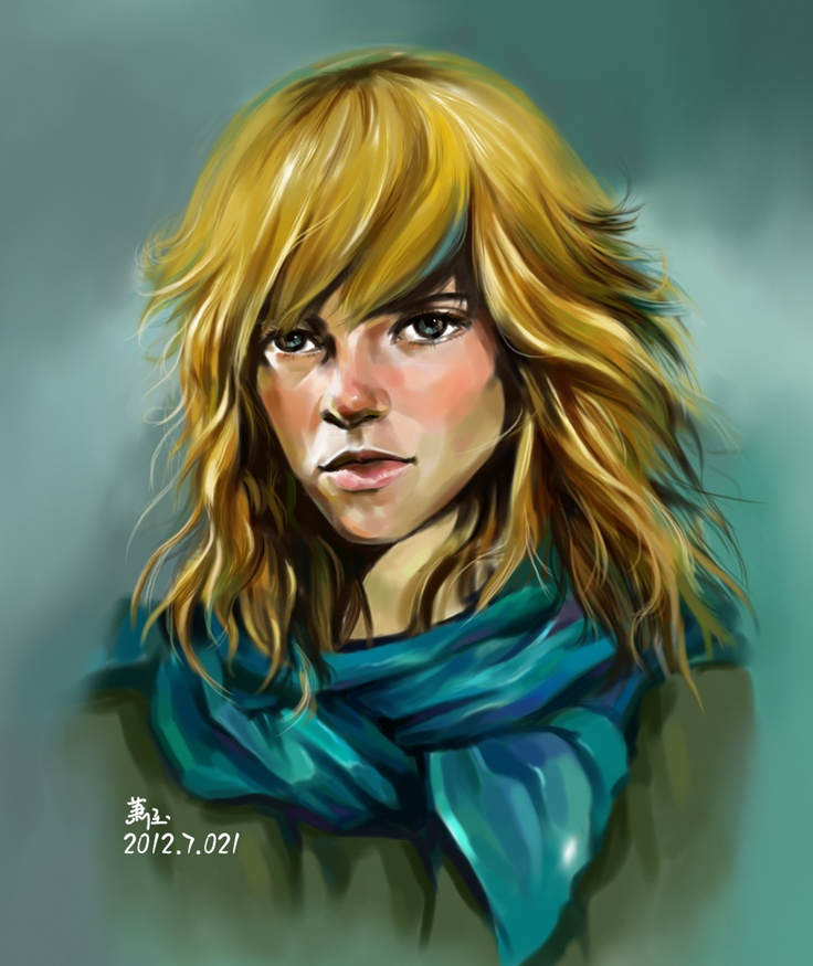 Hair and scarf
