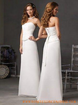 Robe de mariée pas chère avec des paillettes