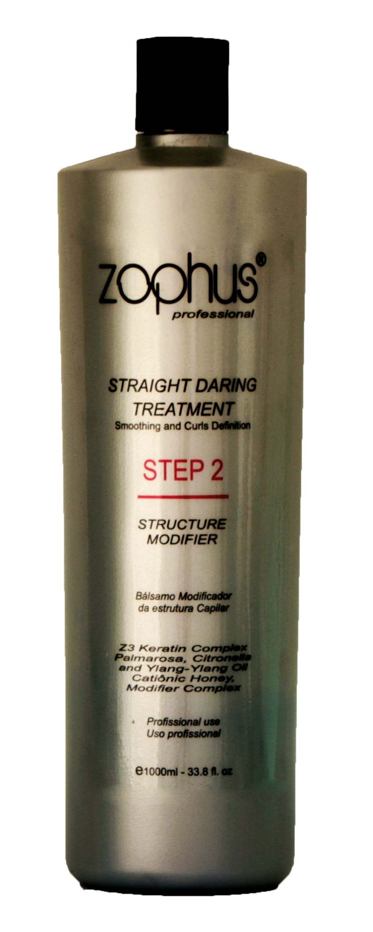 Structure Modifier. (Professional Use) Transforms the rebels and unruly hair into a new natural flat form or reset the curls eliminating frizz permanently,thanks to safe and effective action of the Cocamide Mea, Z3 Keratin , Palmarosa,Citronella and Ylang-Ylang.