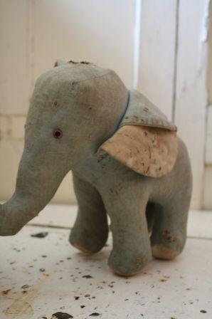 Old stuffed elephant