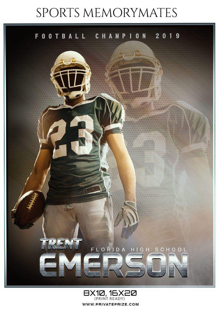 Trent Emerson Football Memory Mate Photoshop Template Photoshop Template Memories Photoshop