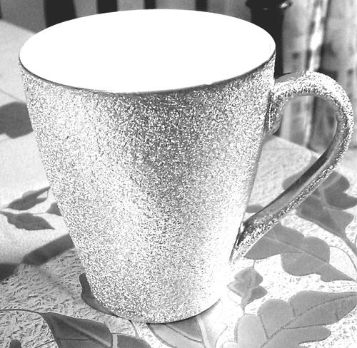 Silver Glittered Coffee Cup. The difference between a cup of coffee and The Cup of Coffee.