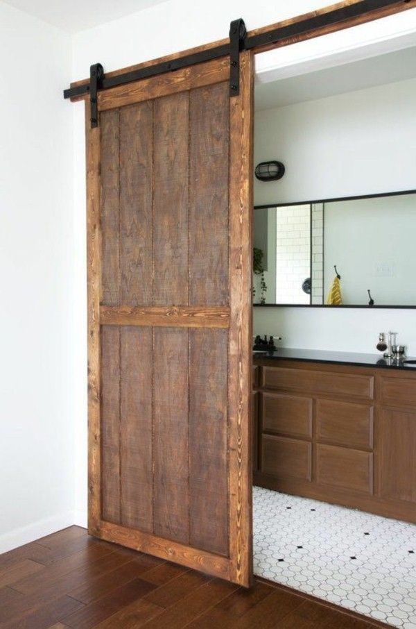 vintage wooden door inside interior modern ambiance design_ideen
