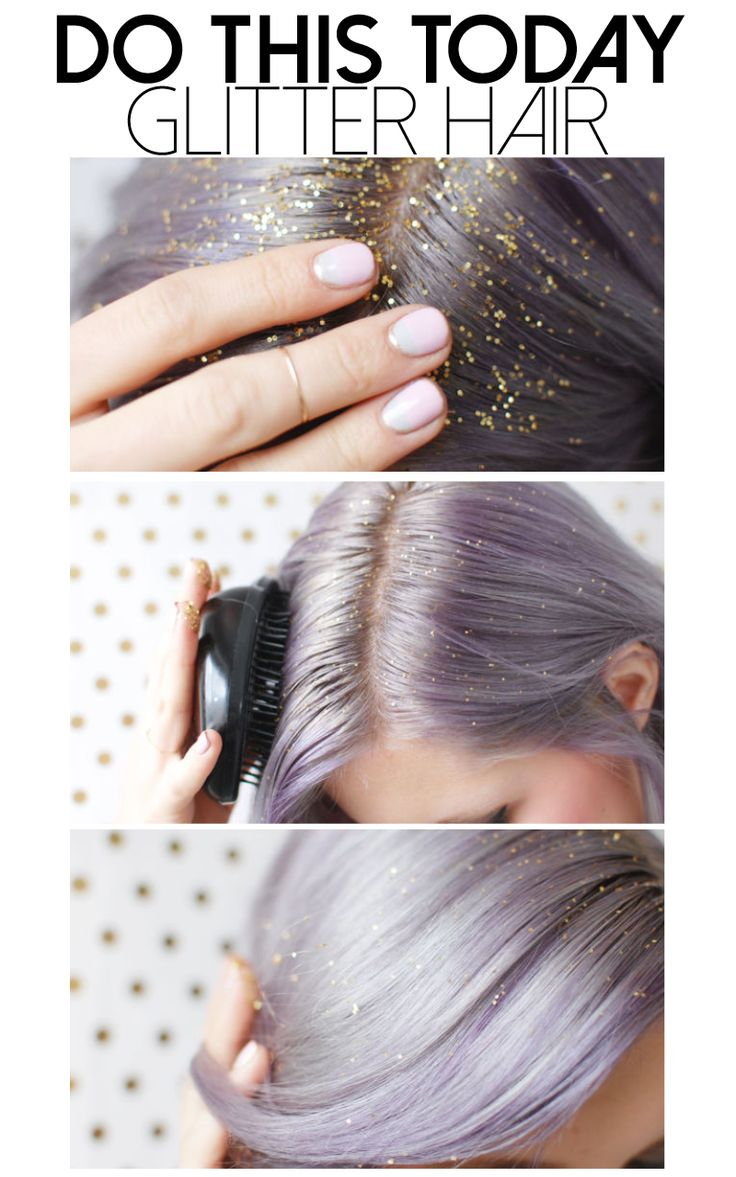 The proper way to get glitter to stay in your hair.