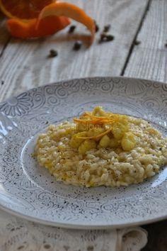 La Cucina di Stagione: Risotto agli agrumi, polvere di capperi e rana pes...