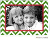 Stacy Claire Boyd - Holiday Photo Cards (Painted Chevron Stripe) (P8SH1850)