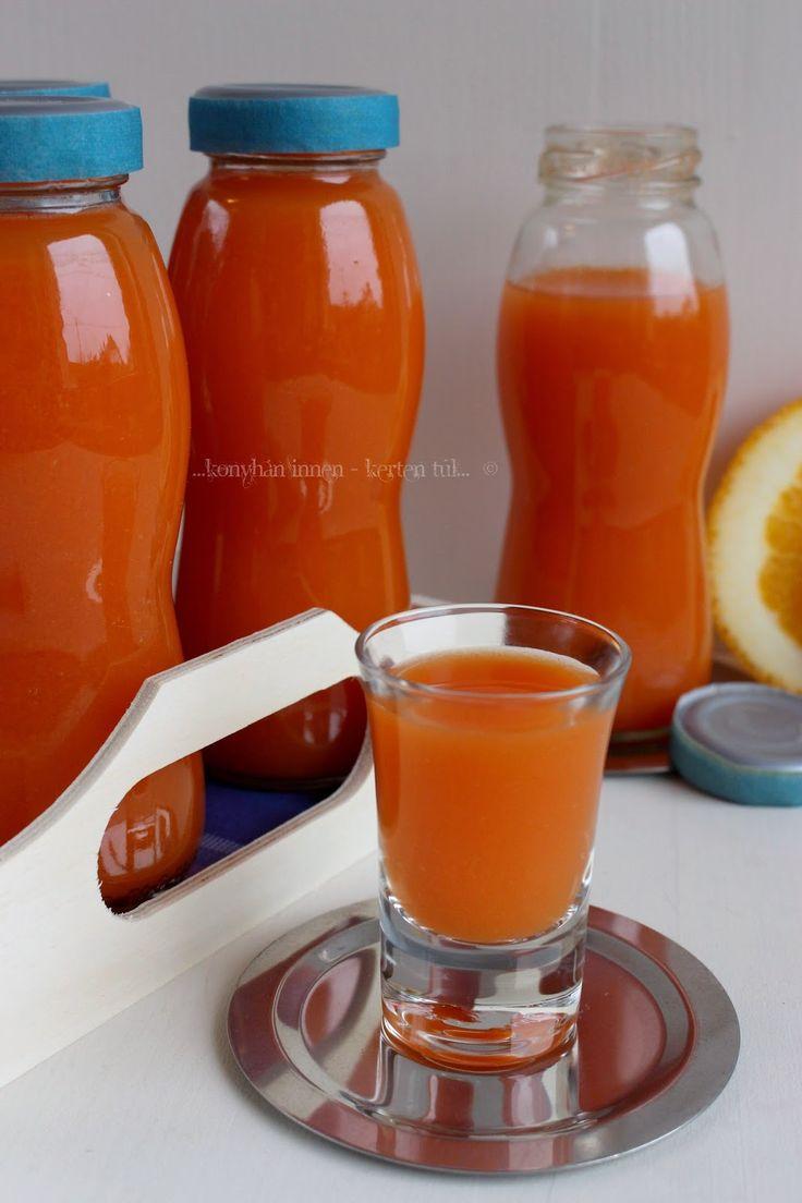 ...konyhán innen - kerten túl...: Narancsos sárgarépaital