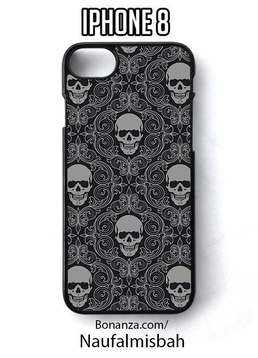 Skull Grey Pattern iPhone 8 Case Cover - Cases, Covers & Skins