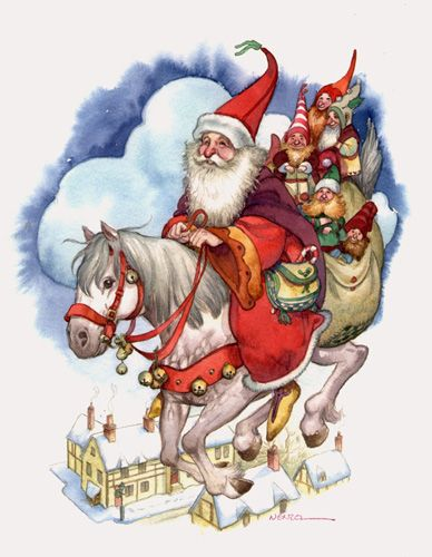 A Visit from Saint Nick by David Wenzel ~ Christmas ~ Kringle Hollow ~ elves