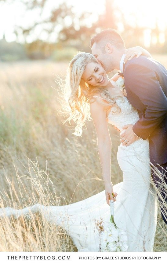 Romantic Farm Couple Photo   Photography by Grace Studios Photography   Dress by Casey Jeanne   Hair by Jacques Smith at Style Addiction