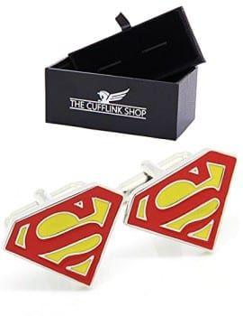 super-hros-Superman-bouton-rouge-boutons-de-manchette-coffret-cadeau-de-luxe-inclus-0