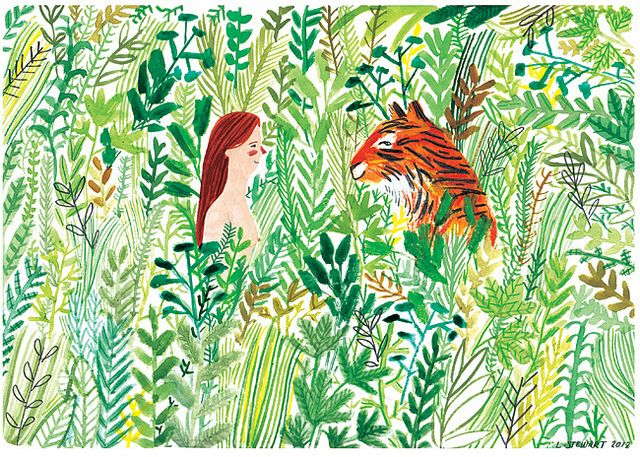 Tiger Meeting by Lizzy Stewart, via Flickr