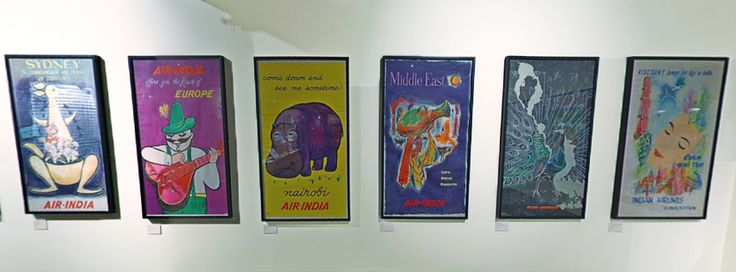 Here are original Air India posters displayed in the Museum! #airindia #posters #art #airways #travel #tour