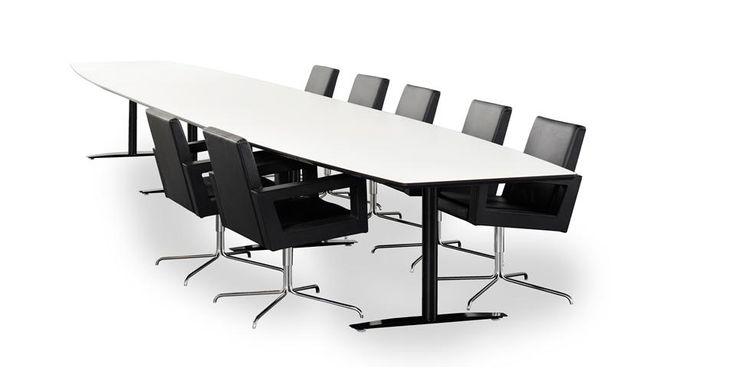 OPTIMA -  fra Svenheim tilbyr deg alle typer bord du måtte ønske deg til møteplassen: Det lille, enkle møtebordet. Det store, eksklusive konferansebordet. Eller et hvilket som helst nivå imellom. Alt innenfor ett og samme standardkonsept.