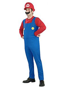 Super Mario Unisex Halloween Costume with Beard (for Height 168-180) – USD $ 14.99