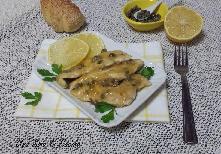 Petto di pollo al limone con capperi