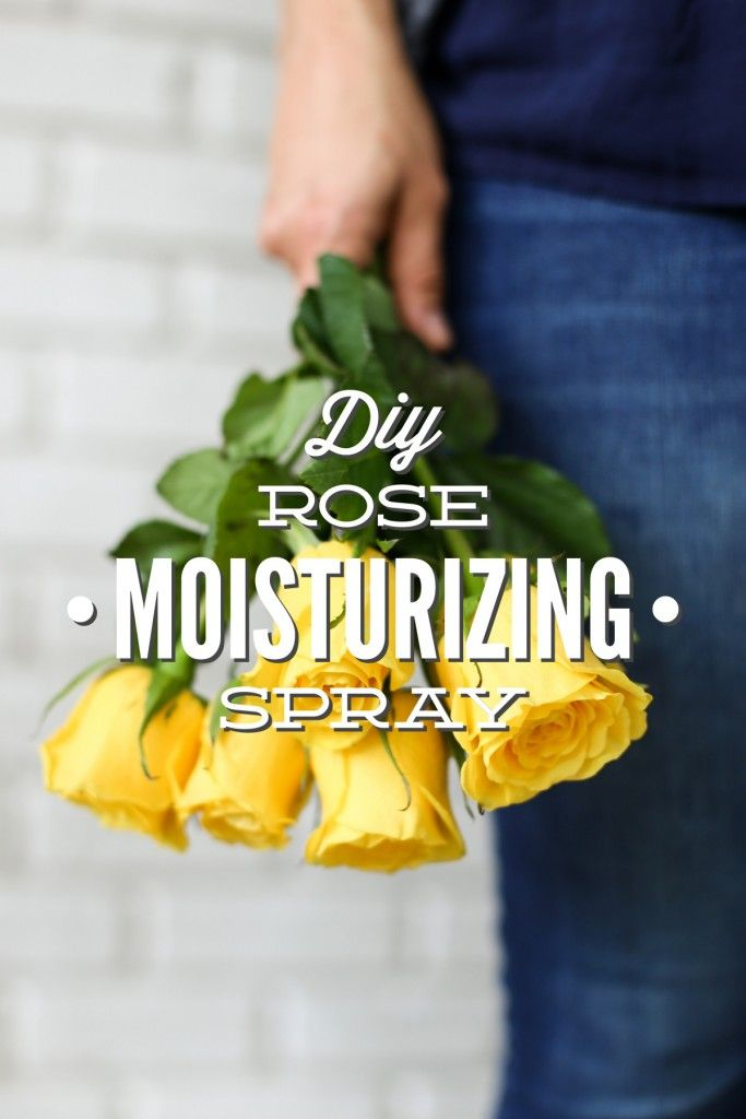 DIY Rose Moisturizing Spray (Toner or Skin Freshener)