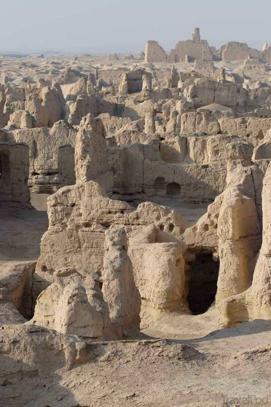 Jiaohe ancient city ruins, China.  Tombs were built in 300 BC near by.
