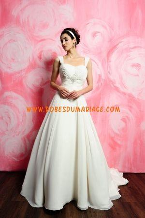 Eden de Mariées robe de mariée 2012 glamour simple avec traîne courte mousseline