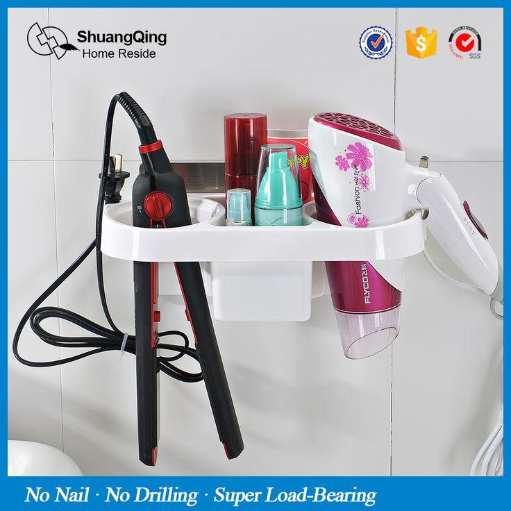 Livraison gratuite en plastique support de support de stockage de cuisine rack salle de bains mur rack de stockage Électrique contreplaqué de cheveux peigne sèche-cheveux titulaire