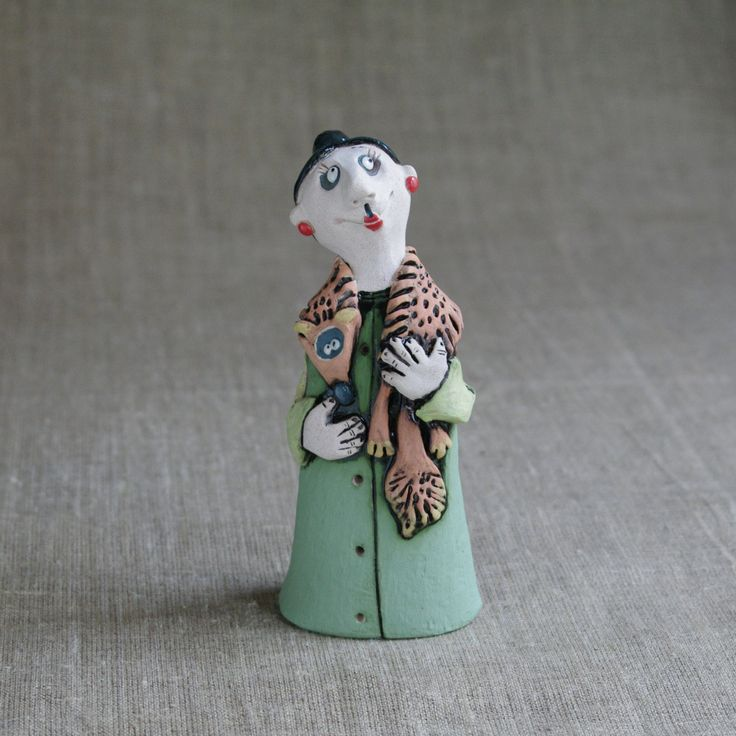 """Ceramic figurine """"Our Auntie"""" by KuklaArt on Etsy"""