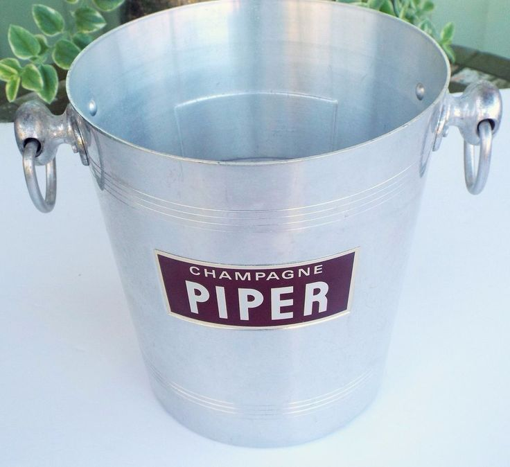 VINTAGE PIPER CHAMPAGNE BUCKET MADE IN FRANCE ARGIT ALUMINUM ICE #ArgitPiper