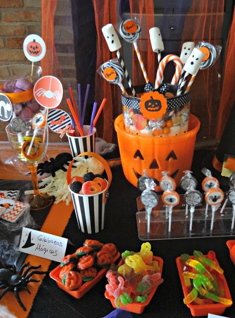 Las 25 mejores ideas sobre ideas para fiesta de halloween - Decoracion mesa halloween ...