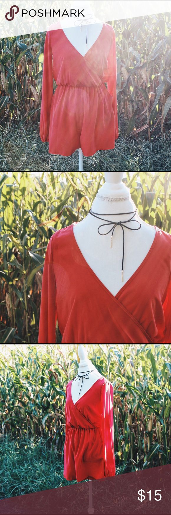 Red playsuit Red summer playsuit Other