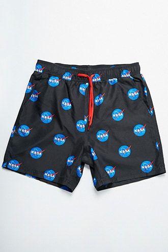 9aa12e858a355 NASA Graphic Swim Trunks | Products | Swim trunks, Trunks, Shorts