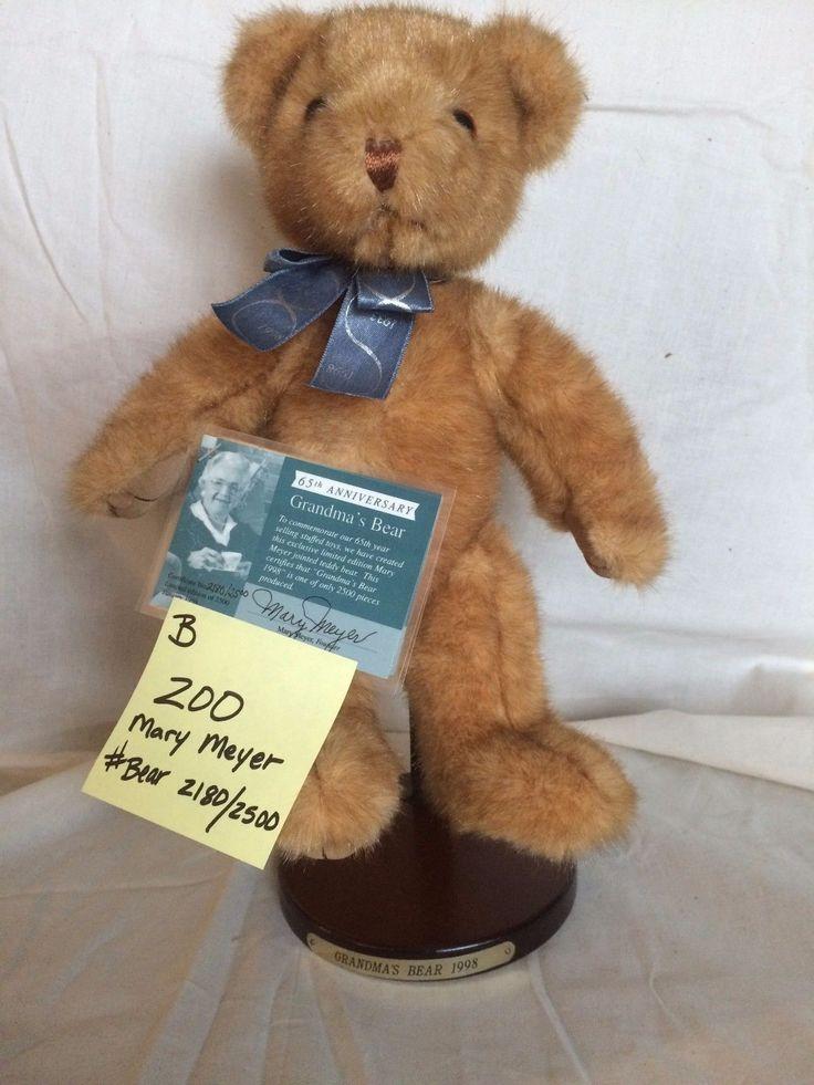 #TeddyBears #Teddy #Bears Mary Meyer teddy bear Grandma's Bear 1998 limited edition certificate of authent #TeddyBears #Teddy #Bears