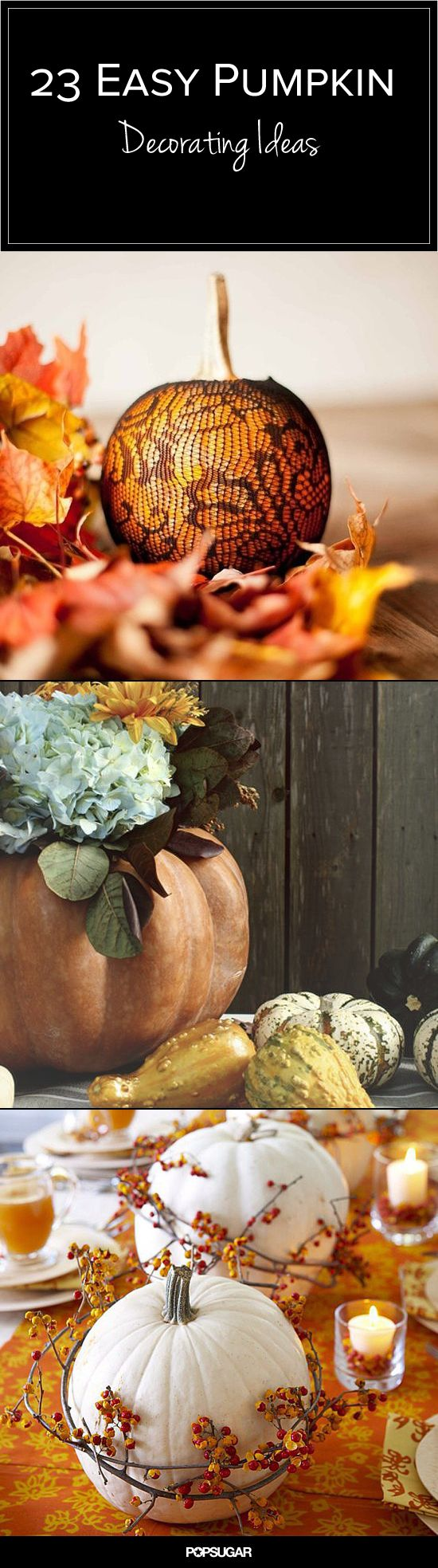 Easy pumpkin decorating ideas