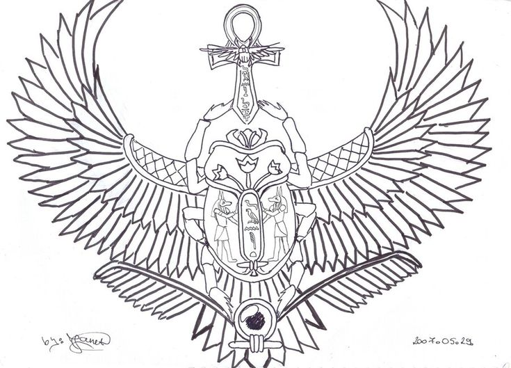 Winged Scarab Tattoo by ~Janet-Asuka on deviantART