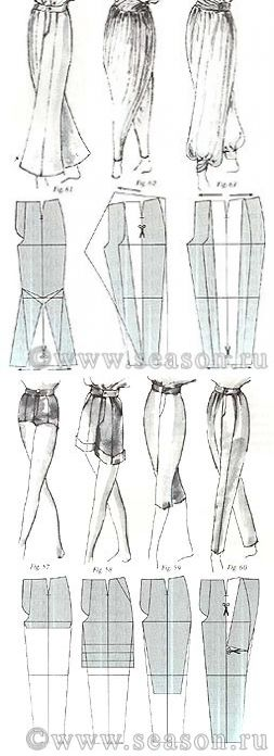 Pants & Shorts Patterns...♥ Deniz ♥