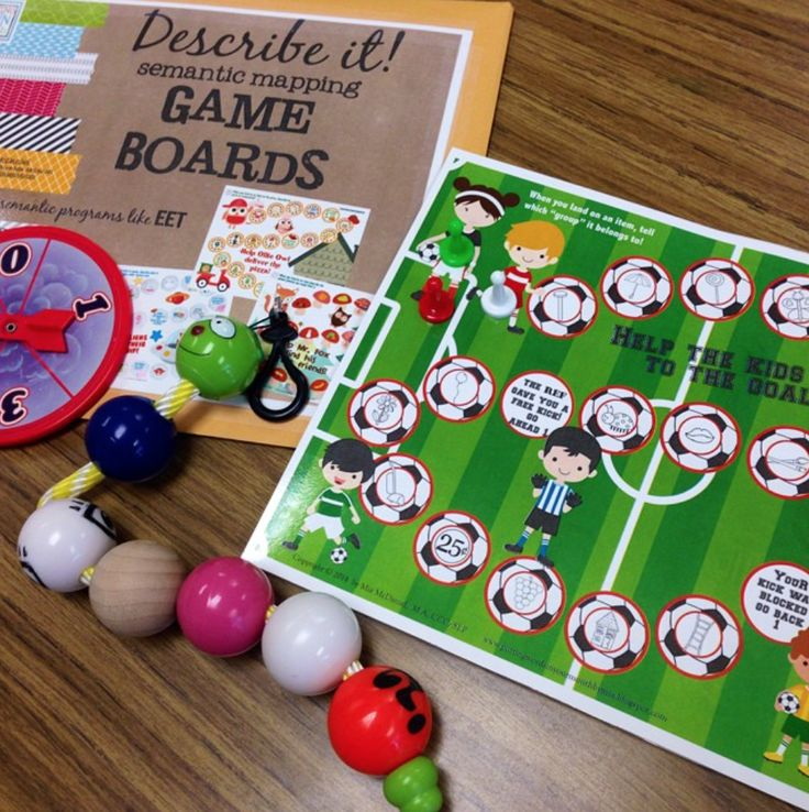 Semantic Mapping Game Boards Use Alone Or With Programs Like Eet