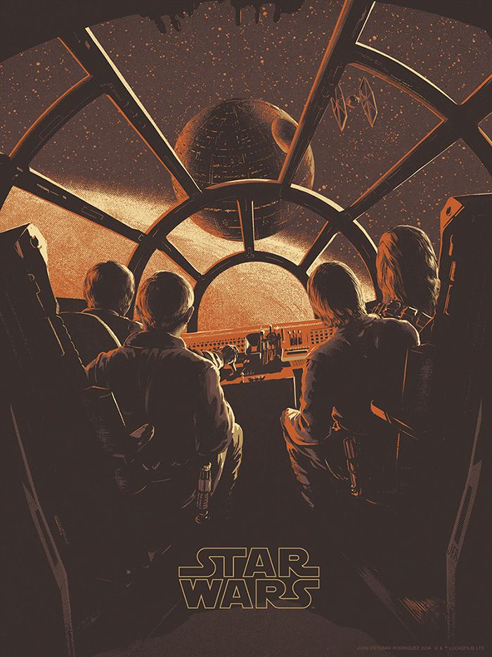 Star Wars: Episode IV - A New Hope by Juan Esteban - Home of the Alternative Movie Poster -AMP-