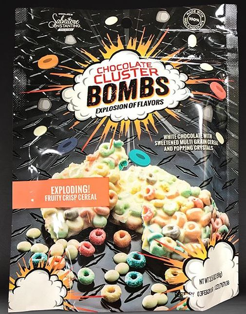 Chocolate Cluster Bombs Exploding Fruit Loop Cereal