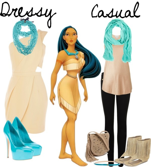 """Pocahontas Inspired Look"" by aussieladdie on Polyvore. I like the casual look and different shoes"
