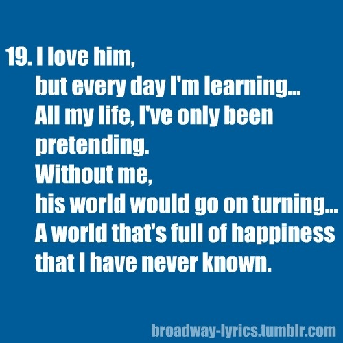 Les Miserables---FAVORITE song from the musical. NO DOUBT ABOUT IT:)