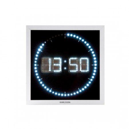 Karlsson Horloge Murale - LED The Time Roll - 25x25cm